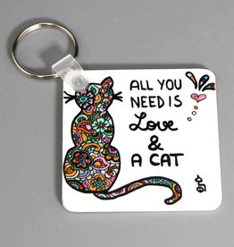 "Key chain ""All you need... cat"""