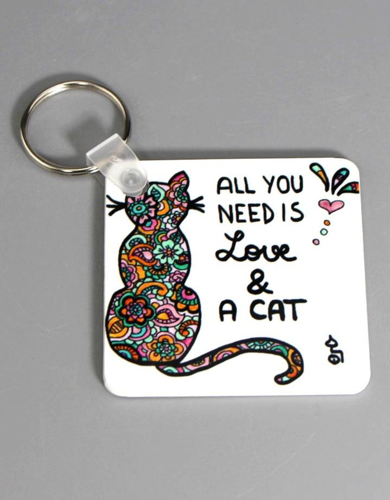 """Key chain """"All you need... cat"""""""