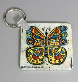 Schlüsselanhänger Schmetterling be strong