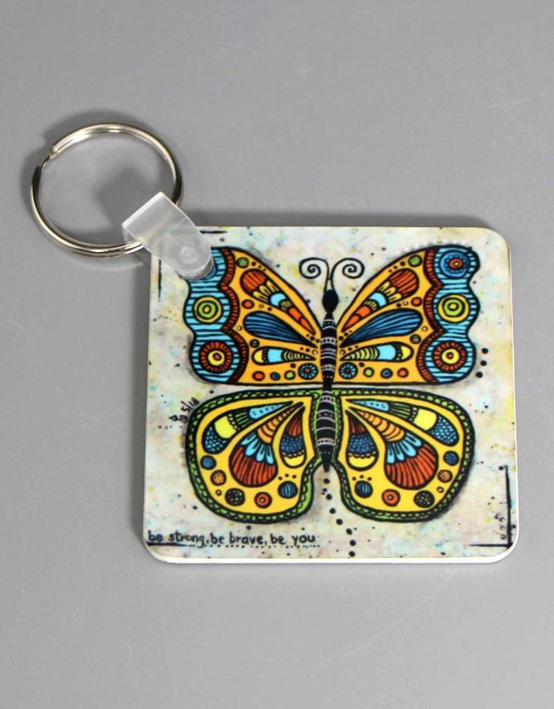 "Key chain ""Butterfly be strong"""