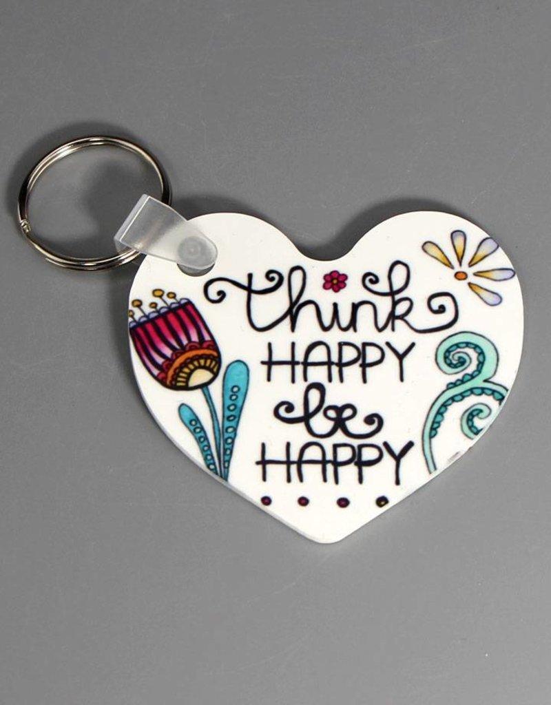 Schlüsselanhänger Think happy