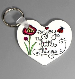 "Key chain heart ""Enjoy the little things"""
