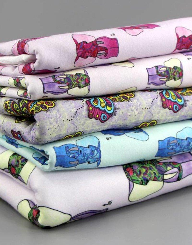 "Cotton cloth ""Elefant rosa"""