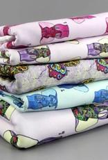 Baumwollstoff Elefant lila