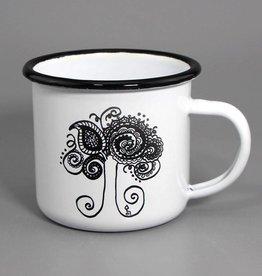 """Enamel mug """"Lebensbaum"""""""