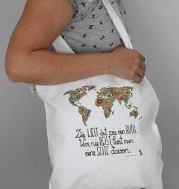 Tasche Die Welt ist ein Buch