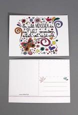 "Post card ""Welt verzaubern"""