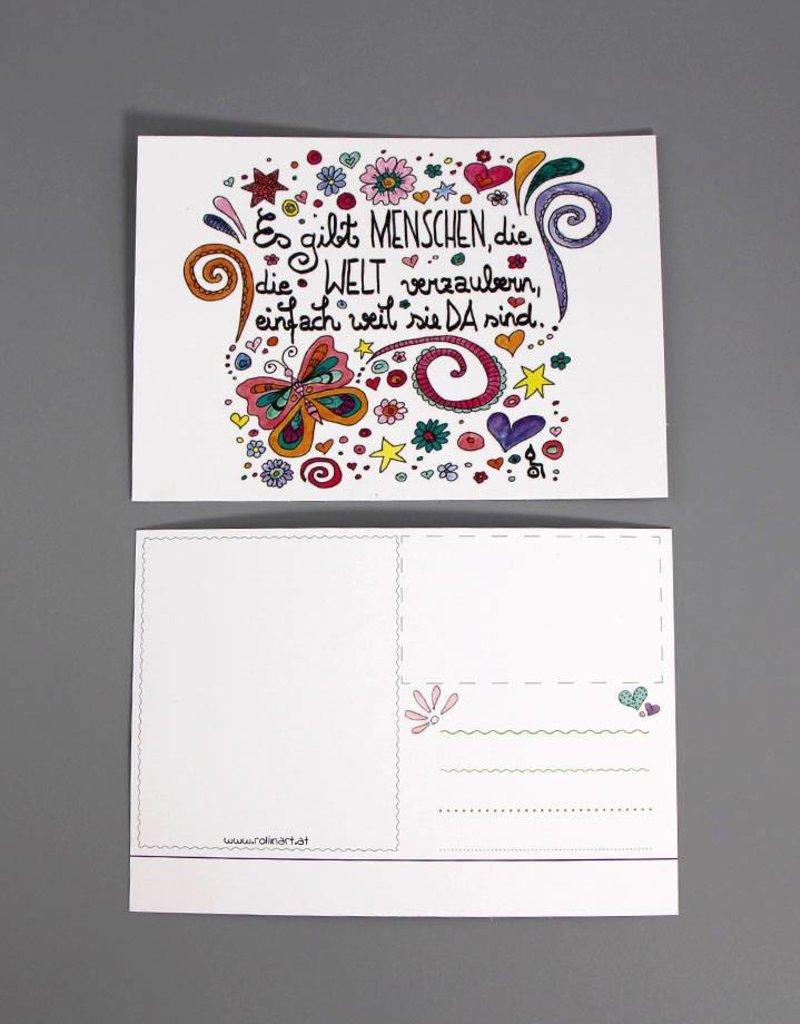 """Postkarte """"Welt verzaubern"""""""