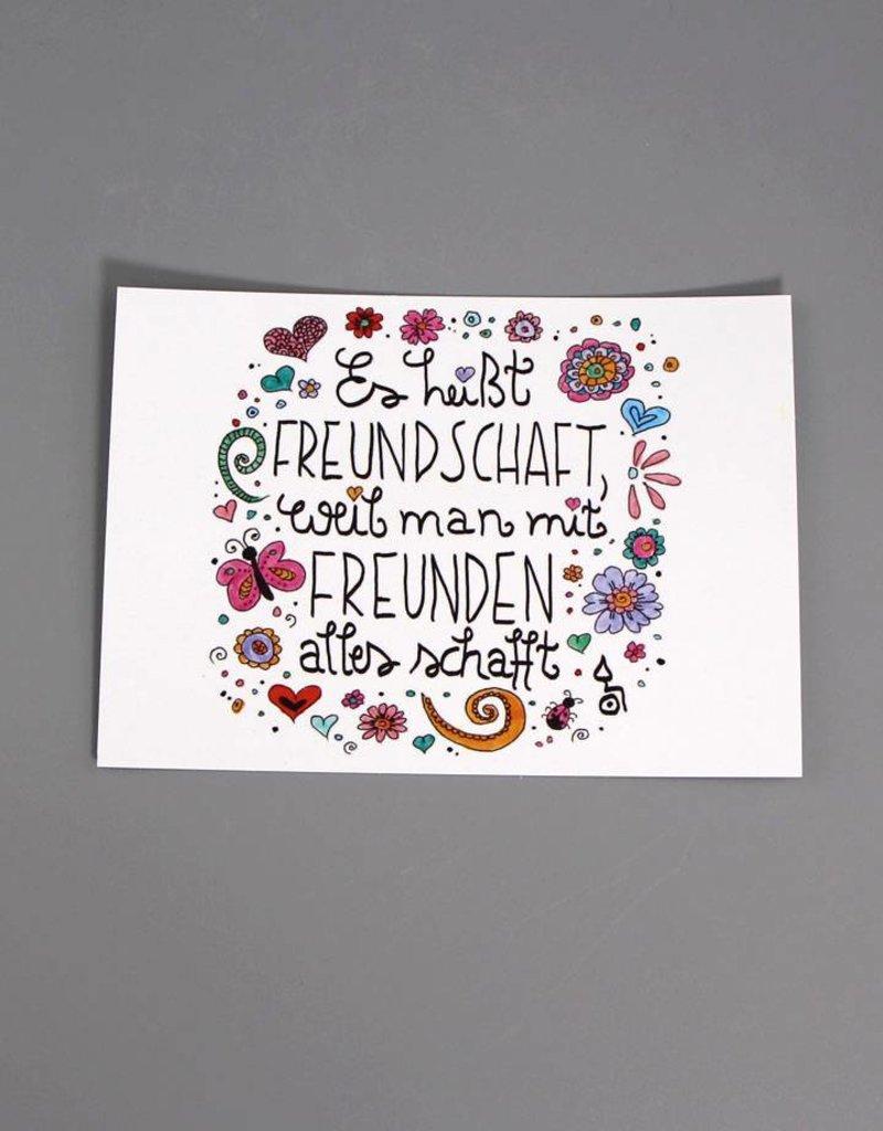 """Postkarte """"Freundschaft"""""""