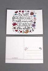 """Post card  """"Freundschaft"""""""
