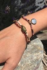 Buddha Armband Versteinertes Holz