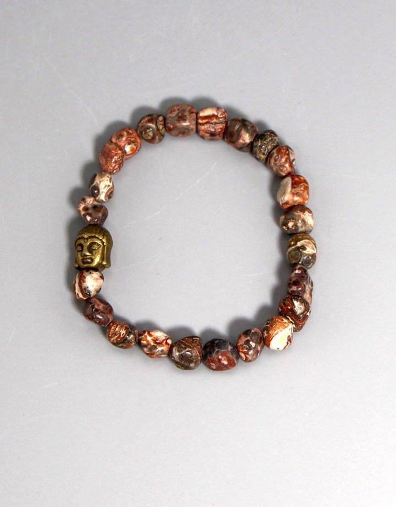 Buddha Armband Jaspis groß