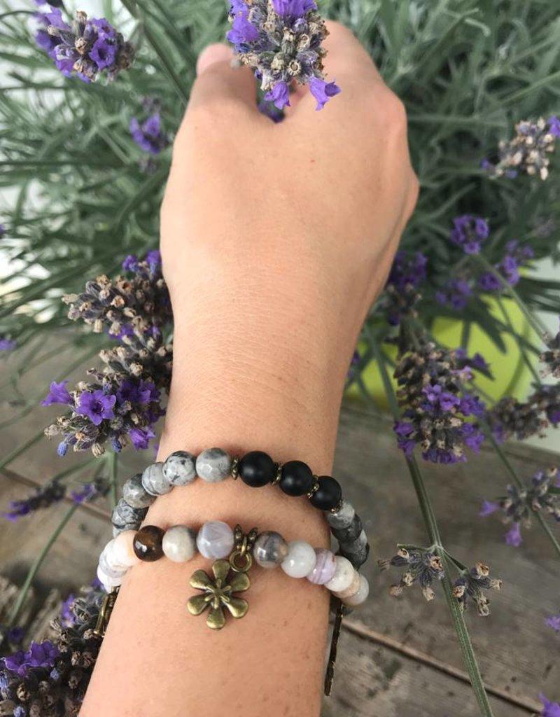 Buddha Armband Naturmarmor