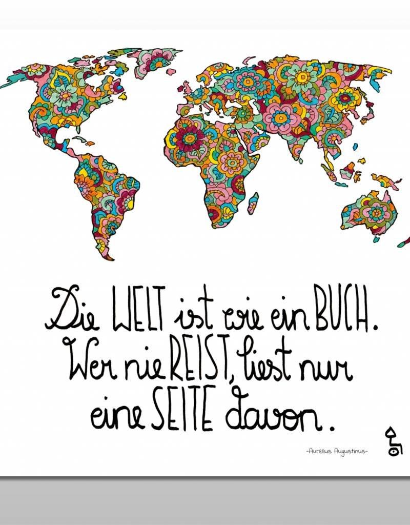 """Poster """"Die Welt ist ein Buch"""""""