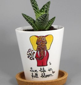 "Flowerpot ""Life live in full bloom"""