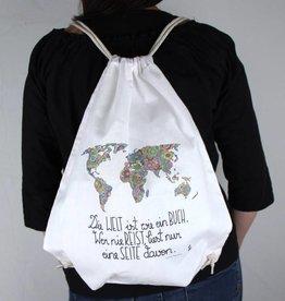 """Gym bag """"Die Welt ist ein Buch"""""""