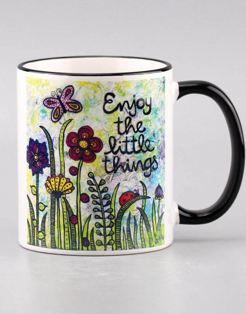 "Ceramic mug ""Enjoy the little things"""
