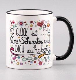 """Tasse """"Glück ist... Schwester"""""""