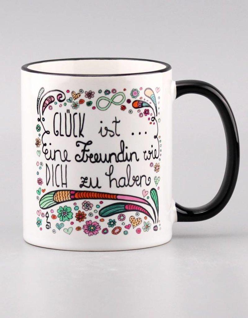 "Ceramic mug ""Glück ist... Freundin"""