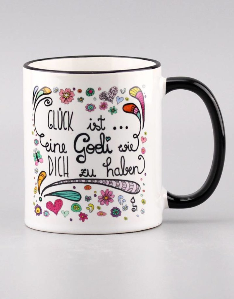 """Ceramic mug """"Glück ist... Godi"""""""