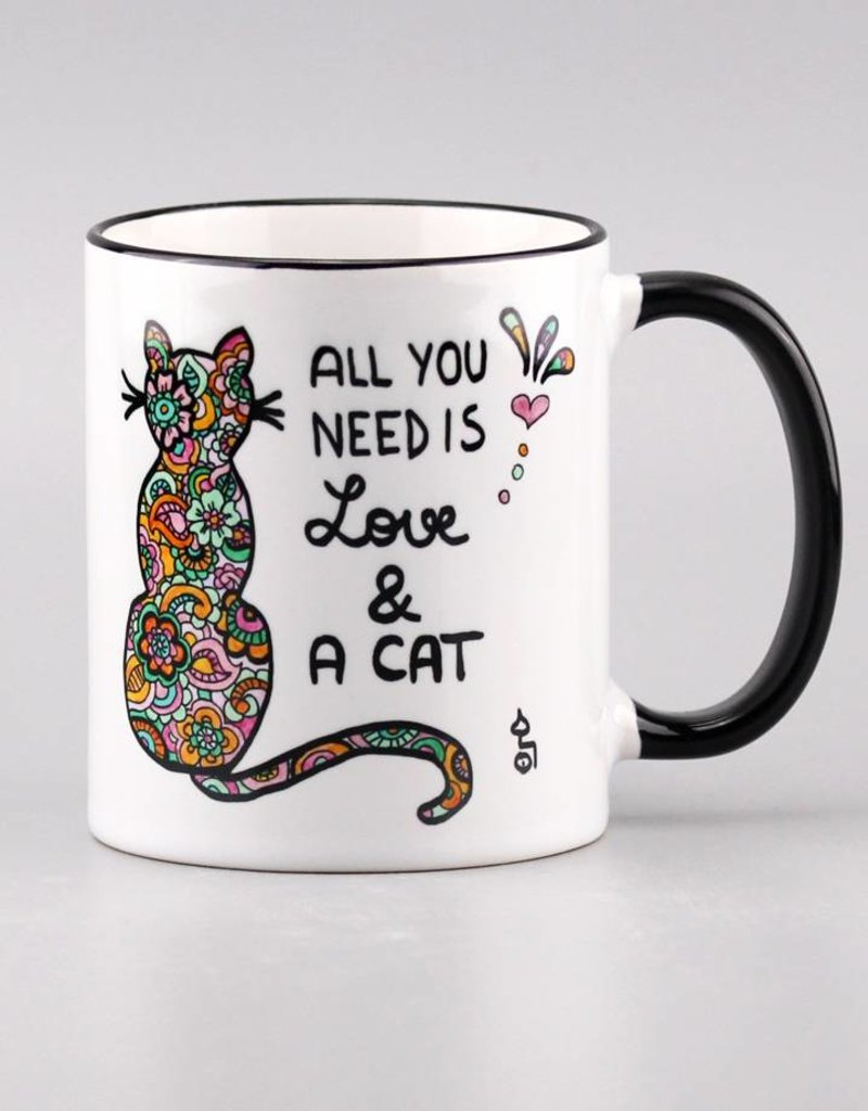 "Ceramic mug ""All you need is... cat"""