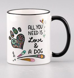 "Ceramic mug ""All you need is ... dog"""