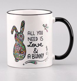 "Ceramic mug ""All you need is ... bunny"""