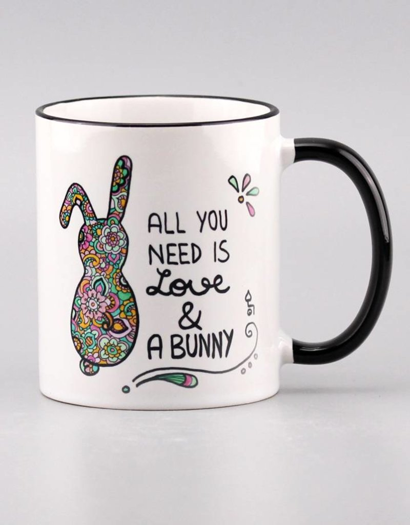 """Tasse """"All you need is ... bunny"""""""
