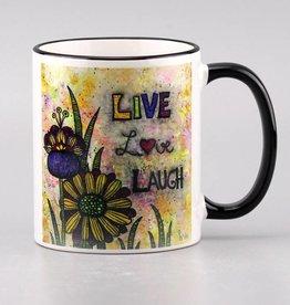 """Ceramic mug """"Live, Love, Laugh"""""""