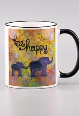 """Ceramic mug """"be happy"""""""