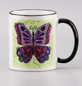"Ceramic mug ""Butterlfy be yourself"""