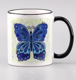"Tasse ""Schmetterling blau"""