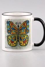 """Ceramic mug """"Butterfly be strong"""""""
