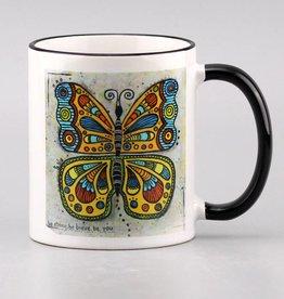 """Tasse """"Schmetterling be strong"""""""