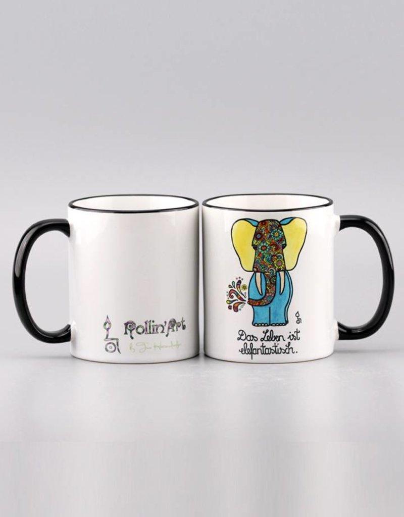 """Ceramic mug """"Das Leben ist elefantastisch"""""""