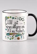 """Ceramic mug """"Glück ist ... Mann"""""""