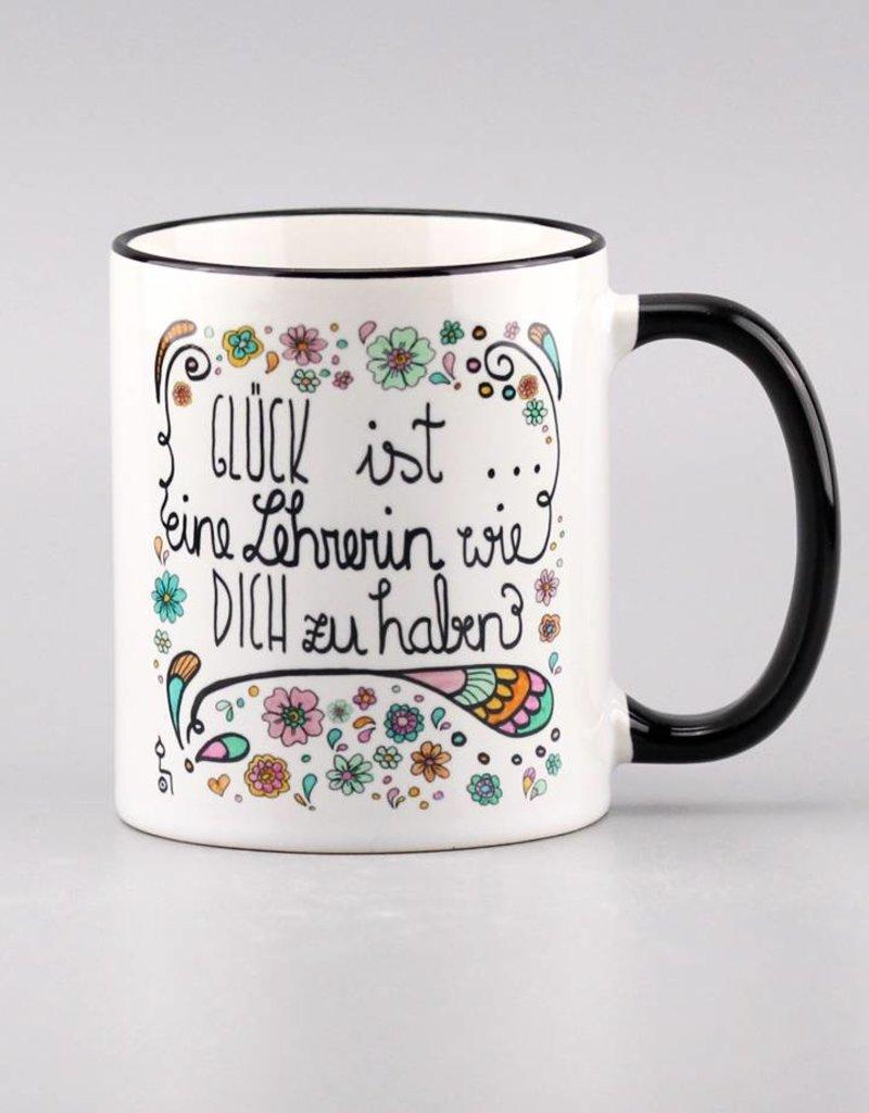 "Ceramic mug ""Glück ist ... Lehrerin"""