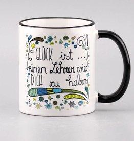"Cermic mug ""Glück ist ... Lehrer"""
