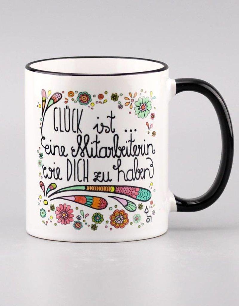 "Ceramic mug ""Glück ist... Mitarbeiterin"""