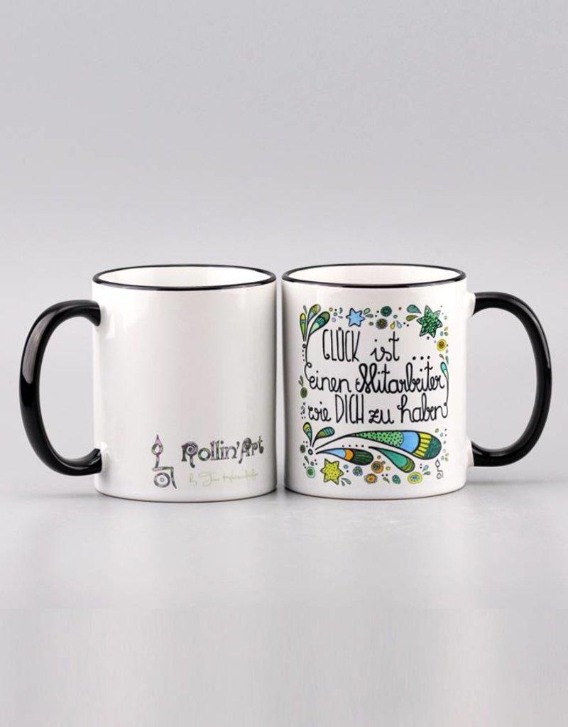 "Ceramic mug ""Glück ist... Mitarbeiter"""