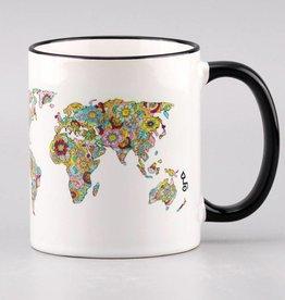 """Ceramic mug  """"Die Welt ist ein Buch"""""""
