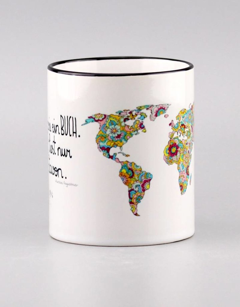 """Tasse """"Die Welt ist ein Buch"""""""