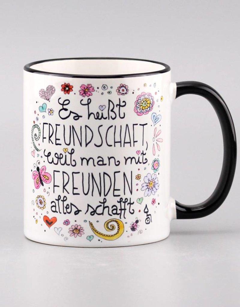 "Ceramic mug ""Freundschaft"""