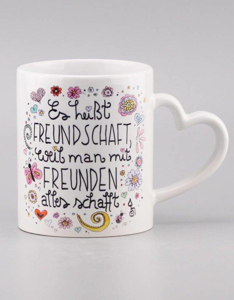 """Tasse """"Freundschaft"""" - Herzhenkel"""