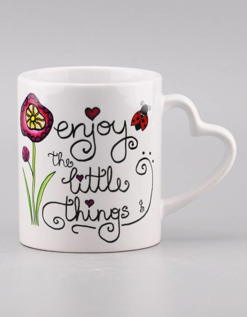 "Tasse ""Enjoy the little things"" - Herzhenkel"
