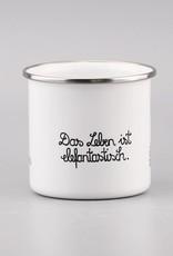 """Emaille Tasse """"Das Leben ist elefantastisch"""""""