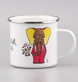 """Enamel mug """"Du bist elefantastisch"""""""