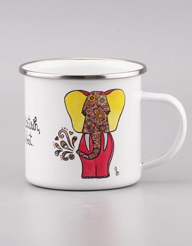 """Emaille Tasse """"Du bist elefantastisch"""""""