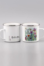"Emaille Tasse ""Enjoy the little things 2.0"""