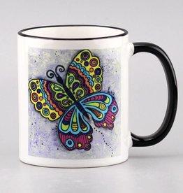 "Ceramic mug ""Colorful butterly"""